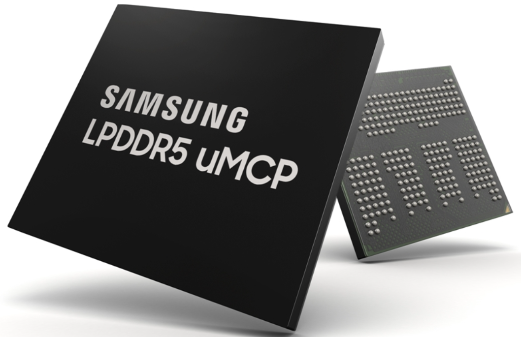 Samsung mass-produces the latest mobile phone flash memory solution Multi-chip package uMCP based on LPDDR5 and UFS
